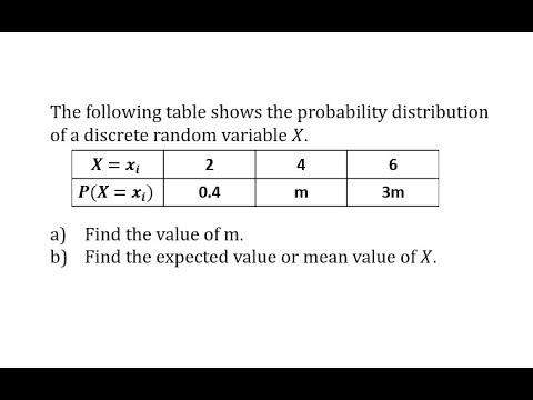 application of expected value of probability distribution