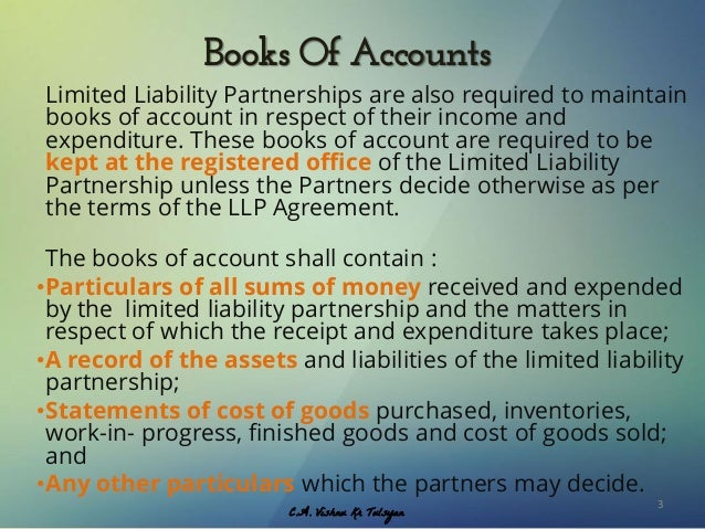application for registraion of books of accounts