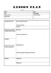 brief lesson plan in english elementary pdf