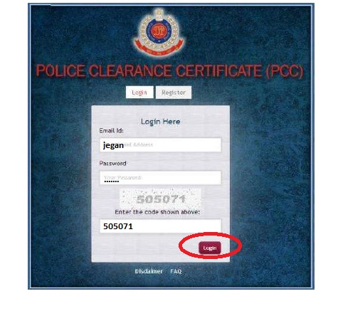 application form for police clearance id