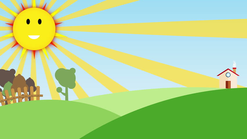 animated farm background for kids application
