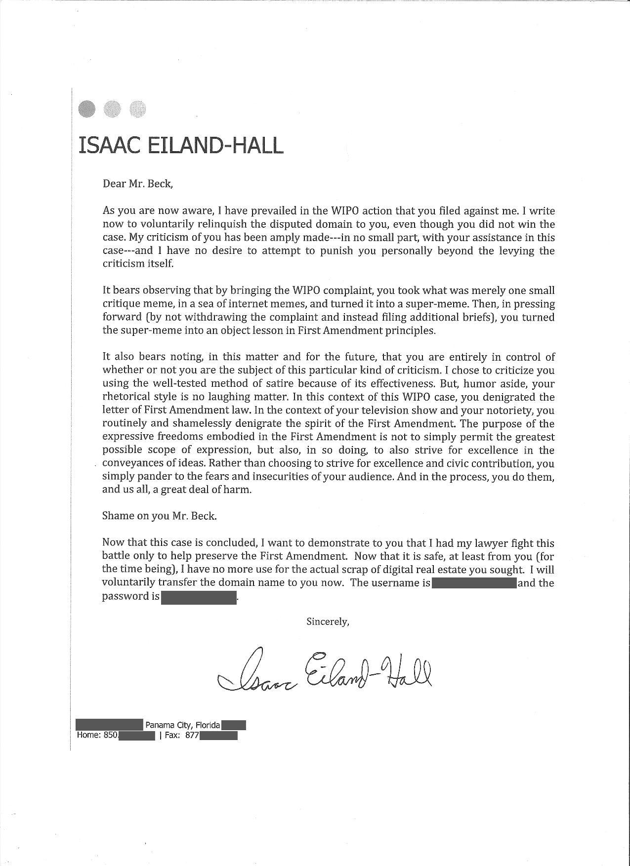 application letter for city hall