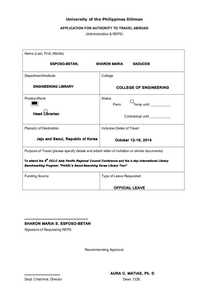 application for government permit to operate
