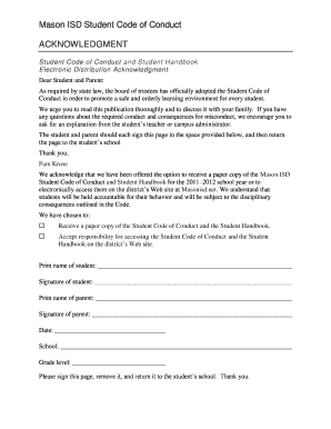 code of conduct application form