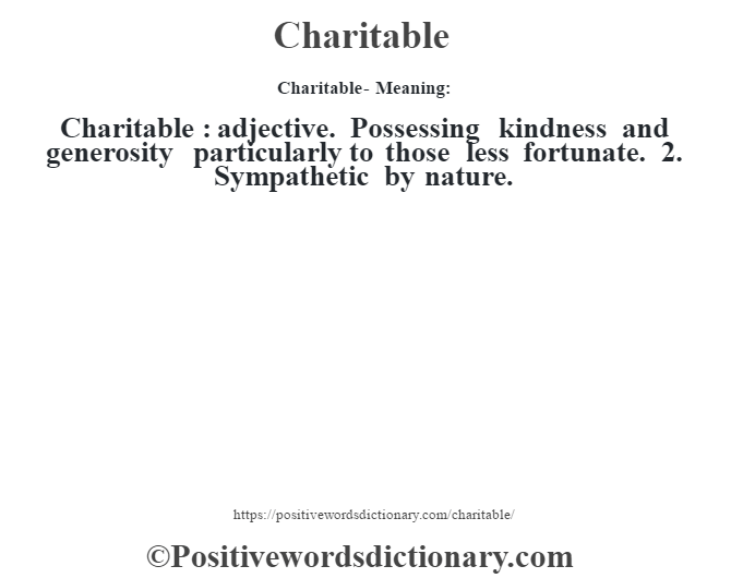 charity definition in bible dictionary