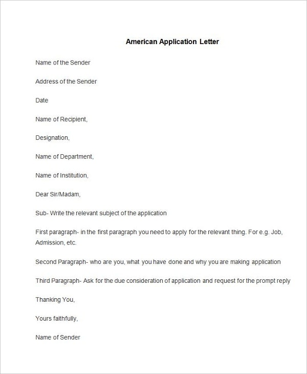 application letter how to apply job
