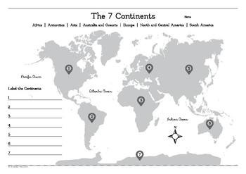 continents of the world pdf