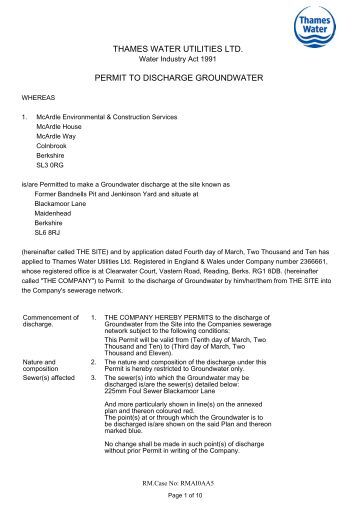 application for discharge permit form
