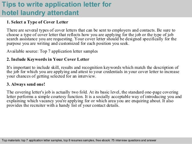 application letter for employment hotel