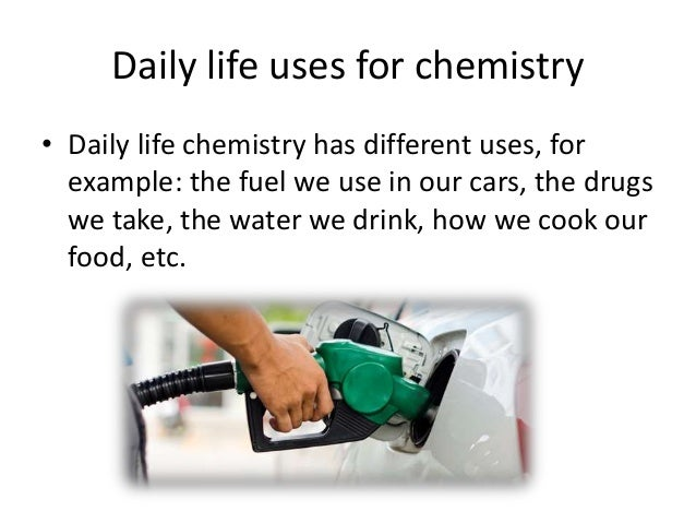 application of chemistry in daily life