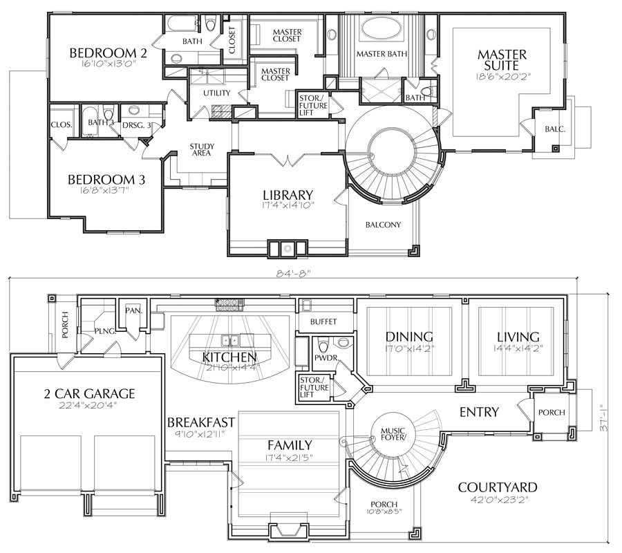 architectural plans for two storey residential house pdf