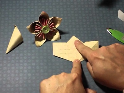 clay tutorial flower with instruction