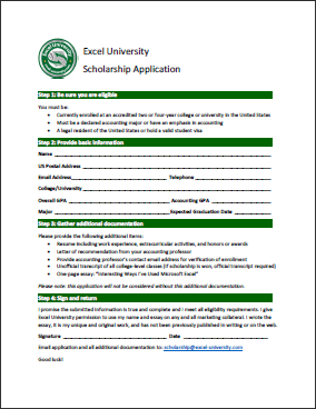 book scholarship application for it student