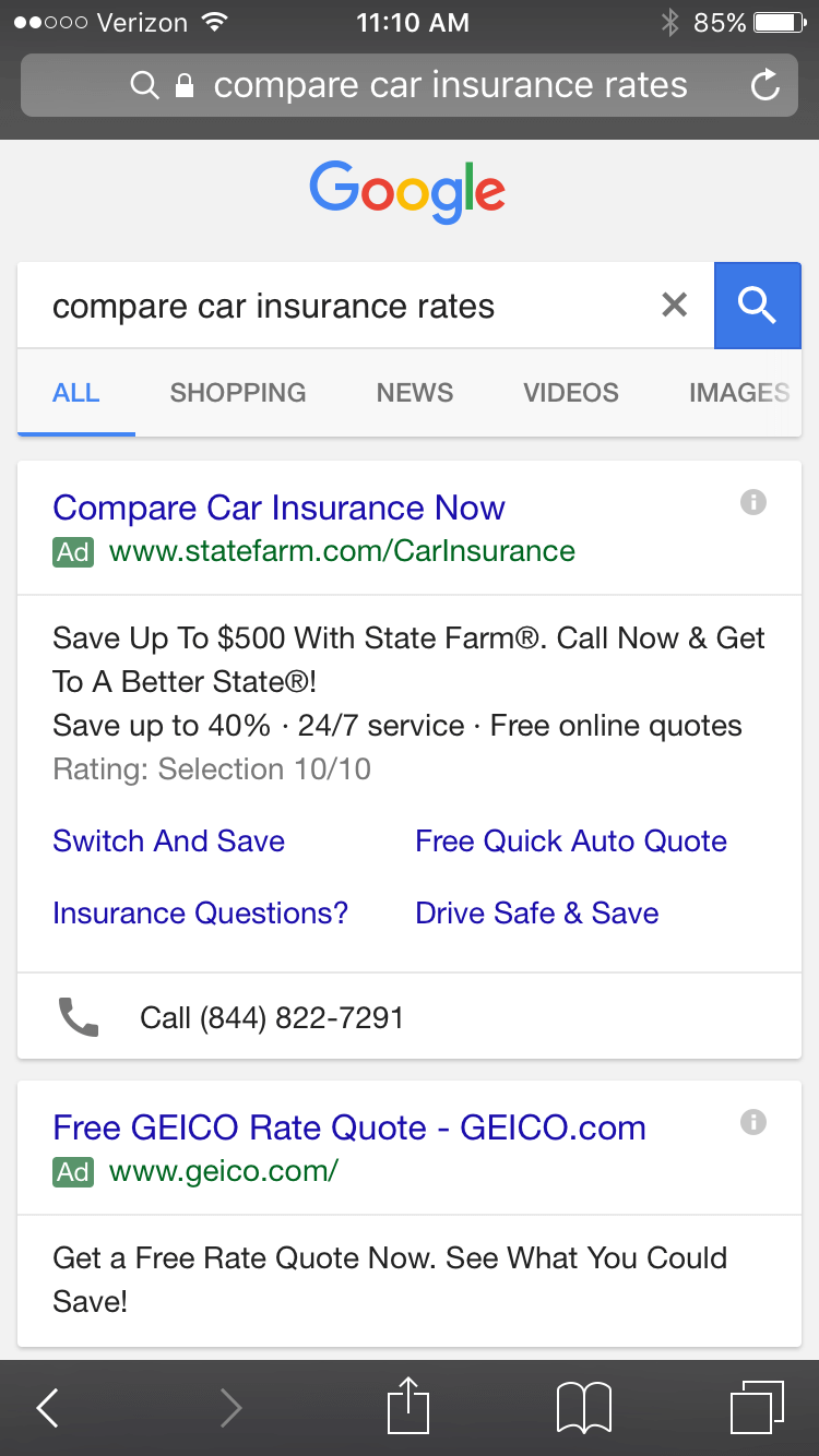 cannot see all the search terms in google adwords
