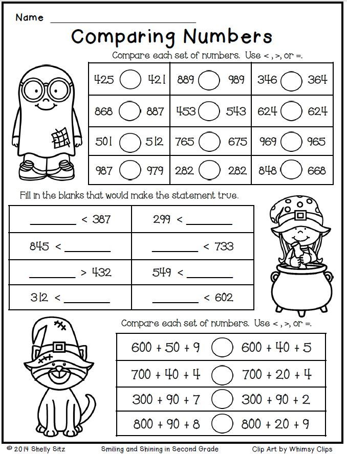comparing numbers worksheets 3rd grade pdf