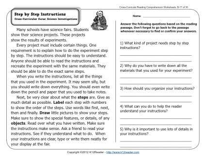 cross content reading and writing instruction