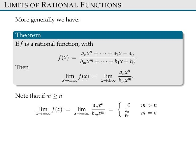 application of limits of a function